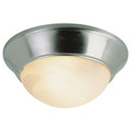 "Athena 16"" Indoor Brushed Nickel Contemporary Flushmount with a Marbleized Glass Shade"
