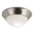 "Bolton 11"" Indoor Brushed Nickel Contemporary Flushmount"