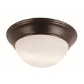 "Bolton 11"" Indoor Rubbed Oil Bronze Contemporary Flushmount"