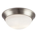 "Bolton 14"" Indoor Brushed Nickel Contemporary Flushmount"