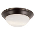 "Bolton 14"" Indoor Rubbed Oil Bronze Contemporary Flushmount"