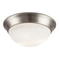 "Bolton 16"" Indoor Brushed Nickel Contemporary Flushmount"