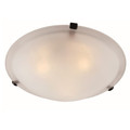 "Cracka15"" Indoor Rubbed Oil Bronze Transitional  Flushmount with Marbelized Glass Shade and Matching Clips"