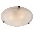 "Cracka 20"" Indoor Rubbed Oil Bronze Transitional  Flushmount with Marbelized Glass Shade and Matching Clips"