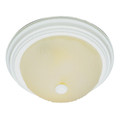 "Del Mar 15"" Indoor Antique White Traditional Flushmount with Frosted Leaf Pattern Shade"