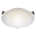 "Neptune Neptune 12"" Indoor Brushed Nickel Contemporary Flushmount with White Frost Glass Shade and Low Profile Design"