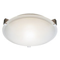 "Neptune Neptune 12"" Indoor White Contemporary Flushmount with White Frost Glass Shade and Low Profile Design"