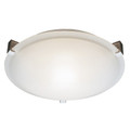 "Neptune Neptune 15"" Indoor White Contemporary Flushmount with White Frost Glass Shade and Low Profile Design"