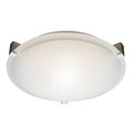 "Neptune Neptune 20"" Indoor Brushed Nickel Contemporary Flushmount with White Frost Glass Shade and Low Profile Design"