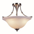 "Perkins 18"" Indoor Brushed Nickel Transitional  Semiflush"