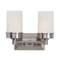 "Fusion 11.75"" Indoor Brushed Nickel Contemporary Vanity Bar with Classic Minimalist Design"