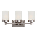 "Fusion 20"" Indoor Brushed Nickel Contemporary Vanity Bar with Classic Minimalist Design"