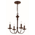 "Candle Collection 14.5"" Indoor Rubbed Oil Bronze Colonial Chandelier"