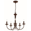 "Candle Collection 19"" Indoor Rubbed Oil Bronze Colonial Chandelier"