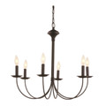 "Trans Globe Lighting 9016 BK 24"" Indoor Black Colonial Chandelier"