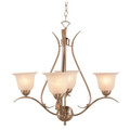 "Aspen 22"" Brushed Nickel Transitional  Chandelier with Elegant Ribbon Arms"