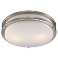 """Barnes 17"""" Indoor Modern Flushmount with Contemporary Brushed Nickel Frame and Acrylic White Shade"""