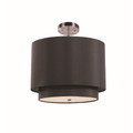 "Schiffer 15"" Indoor Black and Brushed Nickel Contemporary Pendant"