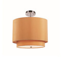 "Schiffer 15"" Indoor Mustard and Brushed Nickel Contemporary Pendant"