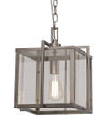 "Eastwood 10"" Indoor Brushed Nickel Industrial Pendant with Open Box Contemporary Design"