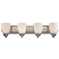 "Trans Globe Lighting 3504-1 PC 30"" Indoor Polished Chrome Traditional Vanity Bar(Shown in PC Finish)"