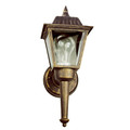 "Trans Globe Lighting 4005 BK 14"" Outdoor Black Traditional Wall Lantern(Shown in BG Finish)"