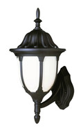 "Trans Globe Lighting 4040 RT 13"" Outdoor Rust  Traditional Wall Lantern(Shown in Black Finish"