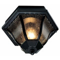 "Trans Globe Lighting 4558 BG 8.75"" Outdoor Black Gold Traditional Flushmount Lantern"