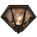 "Trans Globe Lighting 4559 BC 8.5"" Outdoor Black Copper Traditional Flushmount Lantern"