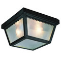"Trans Globe Lighting 4901 RT 5"" Outdoor Rust Traditional Flushmount Lantern"