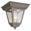 "Trans Globe Lighting 4903 WH 7.25"" Outdoor White Traditional Flushmount Lantern"