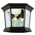 "Trans Globe Lighting 4904 BC 6.5"" Outdoor Black Copper Traditional Flushmount Lantern"