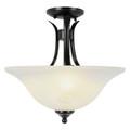 """Trans Globe Lighting 9286 BN 15"""" Indoor Brushed Nickel Transitional  Semiflush(Shown in ROB Finish)"""