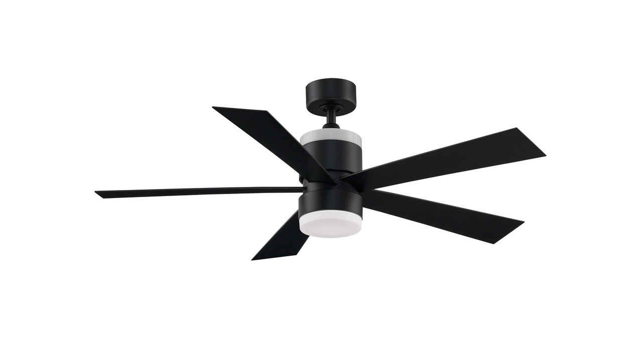Fanimation Fp8458bl Torch 52 Outdoor Ceiling Fan With Led Light And