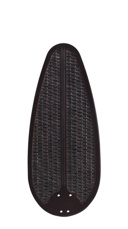 "Fanimation B554DWA 54"" Buttonwood Blade in Dark Walnut with Woven Wicker (Set of 5)"