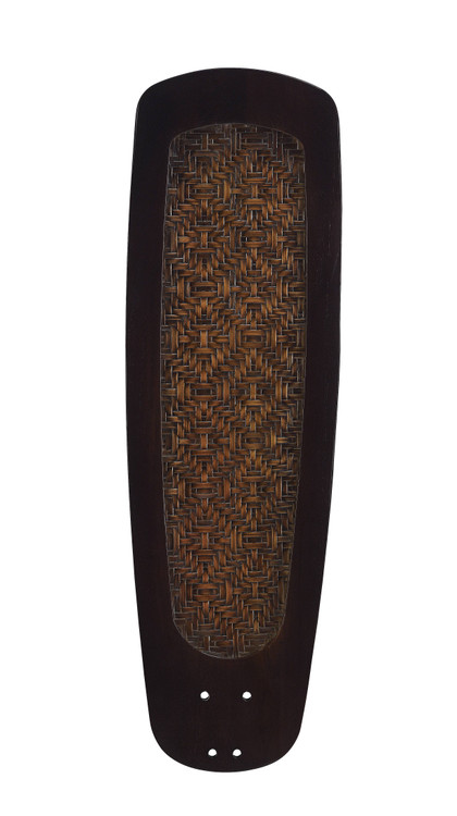 "Fanimation B760DWA 60"" Buttonwood Blade in Dark Walnut with Woven Bamboo (Set of 5)"
