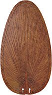 "Fanimation CABPP4BR 22"" Caruse Narrow Oval Blade Composite in Brown Palm (Set of 10)"