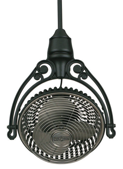 "Fanimation FPH81BL1 Old Havana Ceiling Mount in Black (1"" Downrod)"