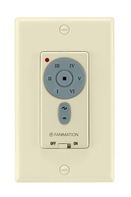 Fanimation TW40LA Wall Transmitter for DC Motor (6-Speed/Rev/DL) in Light Almond