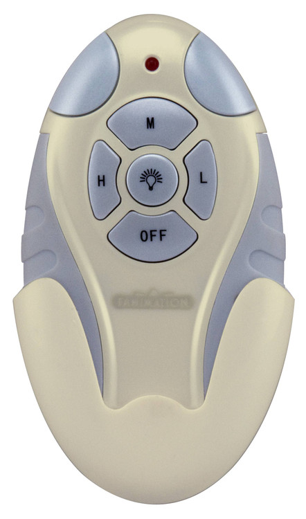 Fanimation CRL4LA Remote Control for Fan & Light with Learn Rec. (3-Speed/Non-Rev) in Light Almond
