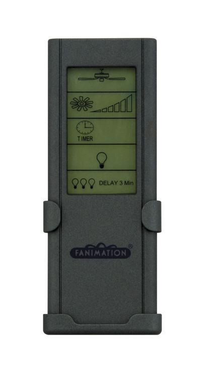 Fanimation CRL8TS Remote Control with Touch Screen & Learn Rec. (3-Speed/Non-Rev) in Grey
