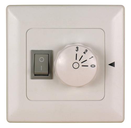 Fanimation C6-220 Wall Control for Fan & Light (3-Speed/Non-Rev) in White (220V)