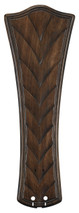 "Fanimation B6060WA 26"" Concave Ribbed Carved Blade in Walnut (Set of 5)"