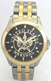 U.S. Marshal Watch Black Dial