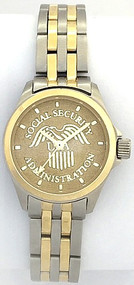 Social Security Administration Watch Gold Dial