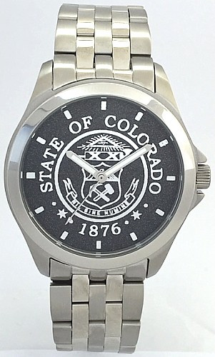 Colorado State Seal Watch Black dial