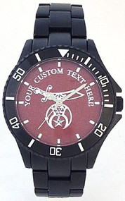 Black Aluminum Shriner watch