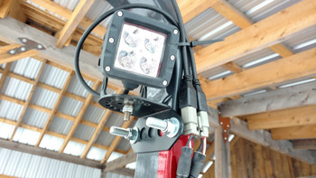Tractor ROPS Work Light Mount on