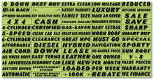 Fluorescent Chartreuse Adhesive Windshield Signs