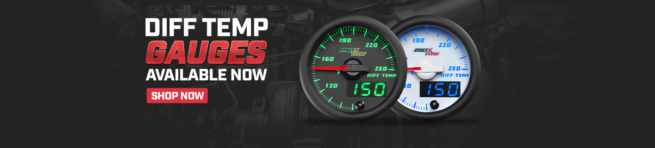 MaxTow Performance Diesel Gauges & Gauge Pillar Pods